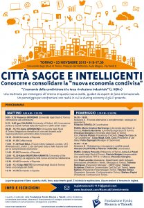 Città sagge e intelligenti 23/11/2015